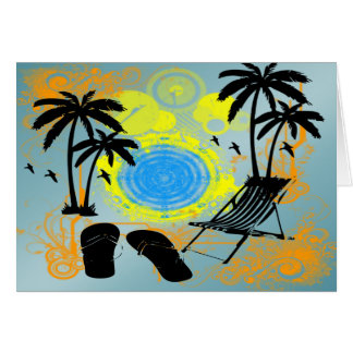 Férias de verão cartão comemorativo