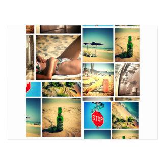 Férias de verão cartão postal