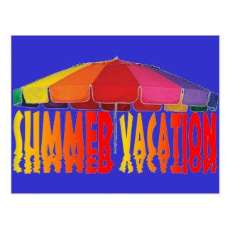 Férias de verão cartao postal