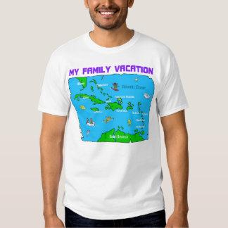Férias do cruzeiro da família t-shirt
