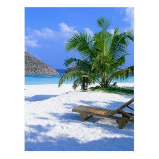 Férias do paraíso da praia cartão postal