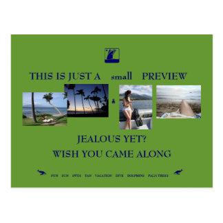 férias exóticas cartão postal