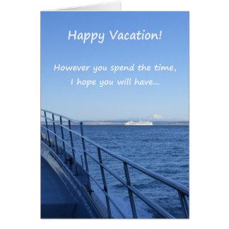 Férias felizes! cartão comemorativo