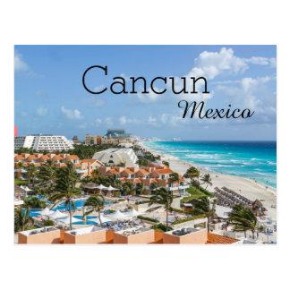 Férias tropicais Cancun México da praia Cartão Postal