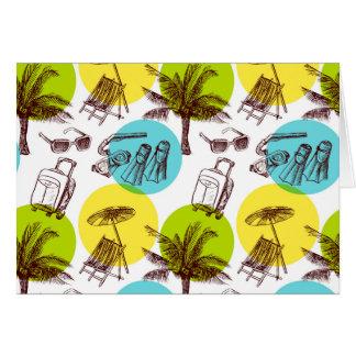 Férias tropicais cartão comemorativo