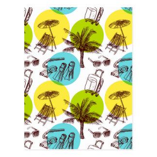 Férias tropicais cartões postais