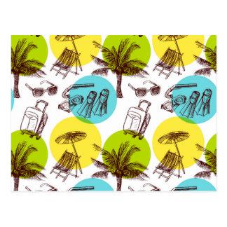 Férias tropicais cartão postal