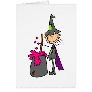 Fermentação do fazer da bruxa cartão comemorativo