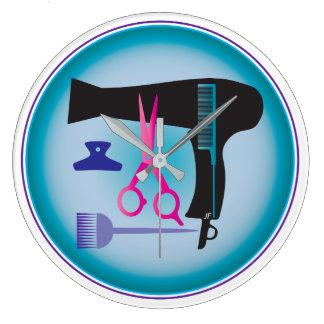 Ferramentas dos penteados relógio grande