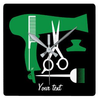 Ferramentas dos penteados relógio quadrado