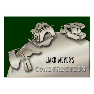Ferramentas licenciadas da indústria da construção modelos cartão de visita
