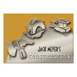 Ferramentas licenciadas da indústria da construção cartão de visita