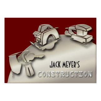 Ferramentas licenciadas da indústria da construção cartão de visita grande