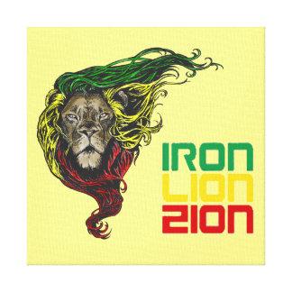 Ferro de Rastafarian da reggae, leão, canvas dos Impressão Em Tela