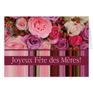 Festa das Mães french Recortar & de stripes Mother Cartões