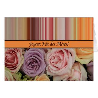 Festa das Mães french Recortar & de stripes Mother Cartoes