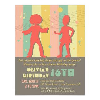 Festa de aniversário adolescente à moda retro da convite 10.79 x 13.97cm