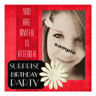 Festa de aniversário adolescente da surpresa da me convite personalizado