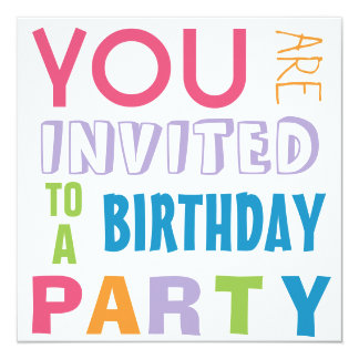 Festa de aniversário adolescente do adolescente convite quadrado 13.35 x 13.35cm