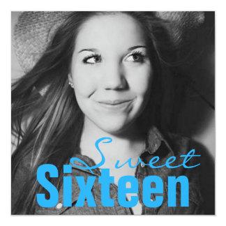 Festa de aniversário adolescente do doce dezesseis convite quadrado 13.35 x 13.35cm