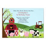 Festa de aniversário animal do divertimento do convites personalizados