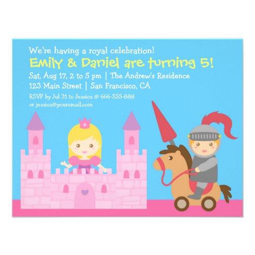 Festa de aniversário bonito da princesa e do convites personalizado