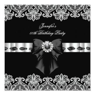 Festa de aniversário branca preta 2 do laço dos