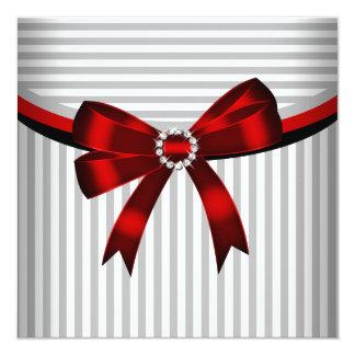 Festa de aniversário branca preta cinzenta da convite quadrado 13.35 x 13.35cm