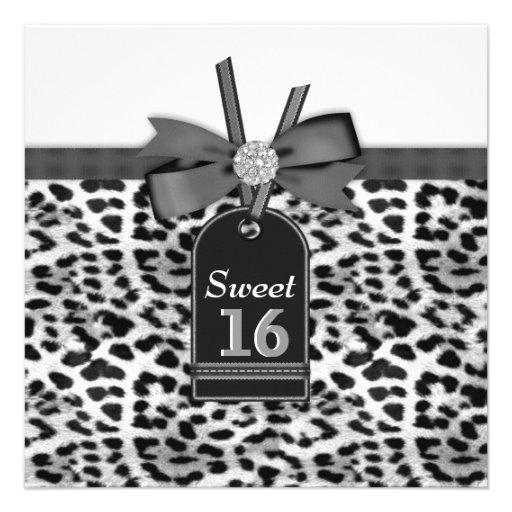 Festa de aniversário branca preta do doce dezessei convites personalizado
