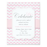 Festa de aniversário cor-de-rosa delicada moderna convite personalizados