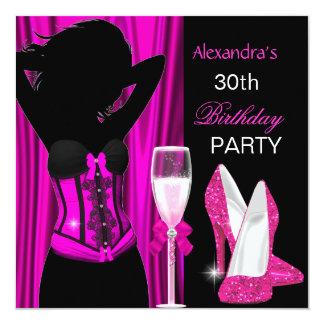Festa de aniversário cor-de-rosa glamoroso de convites