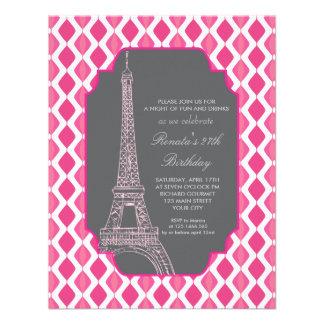 Festa de aniversário cor-de-rosa moderna de Paris