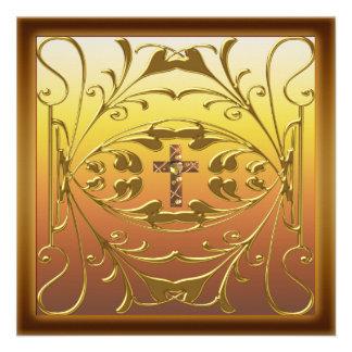Festa de aniversário cristã Inv do casamento da cr Convite Personalizado