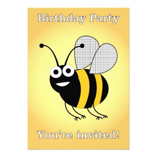 festa de aniversário da abelha convites
