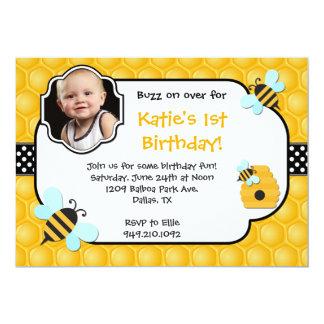 Festa de aniversário da abelha convites personalizado