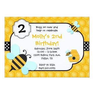 Festa de aniversário da abelha convite personalizados