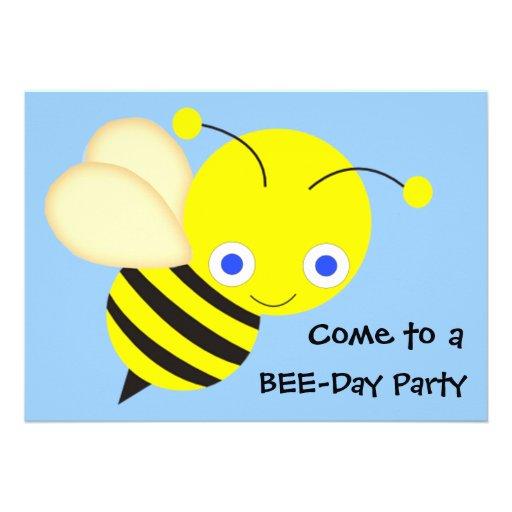 Festa de aniversário da abelha do mel convites personalizados