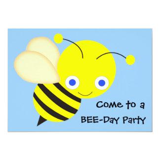 Festa de aniversário da abelha do mel convite 12.7 x 17.78cm