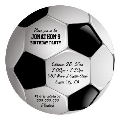 Festa de aniversário da bola de futebol do futebol convite personalizados
