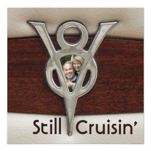 Festa de aniversário da foto do casal de Cruisin Convites Personalizado