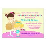 Festa de aniversário da ginástica dos Cartwheels e Convite Personalizados