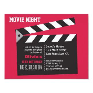 Festa de aniversário da noite de cinema do diretor convite 10.79 x 13.97cm