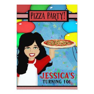 Festa de aniversário da pizza convite personalizado