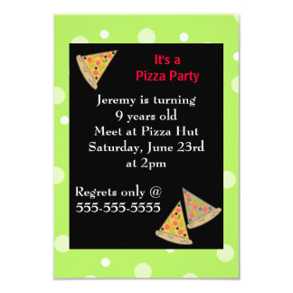 Festa de aniversário da pizza convite 8.89 x 12.7cm