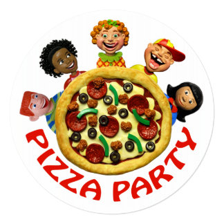 Festa de aniversário da pizza convite