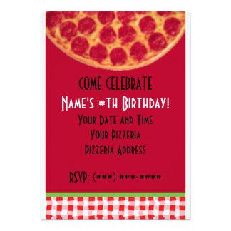 Festa de aniversário da pizza… convite 12.7 x 17.78cm