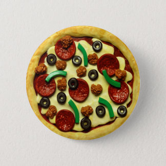 Festa de aniversário da pizza dos miúdos bóton redondo 5.08cm