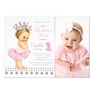 Festa de aniversário da princesa Pérola Menina da Convite 11.30 X 15.87cm