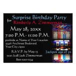Festa de aniversário da surpresa do slot machine convite
