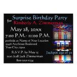 Festa de aniversário da surpresa do slot machine convite 12.7 x 17.78cm